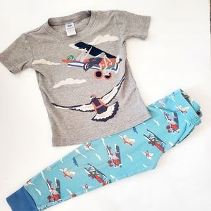 3/$25 Mini Boden Airplane cotton pajamas